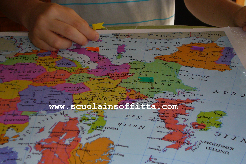 Cartina Mondo Tiger.La Cameretta Geografica Per Piccoli Viaggiatori La Scuola In Soffitta